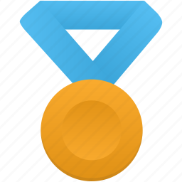 award, blue, gold, medal, metal, prize, winner icon