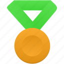 award, gold, green, medal, metal, prize, winner icon