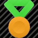 gold, green, metal, award, medal, prize, winner