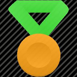 award, gold, green, medal, metal, prize, winner icon