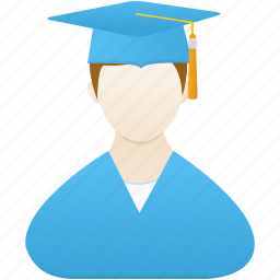 boy, graduate, male, man, school, student, study icon