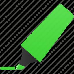 green, highlightmarker, mark, marker icon