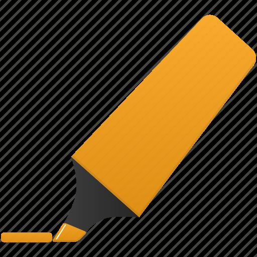 highlightmarker, mark, marker, orange icon