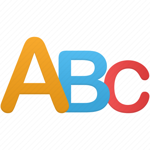 a, b, c, learn, letter, letters, study icon