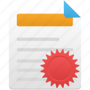 document, file, license, manager, paper icon