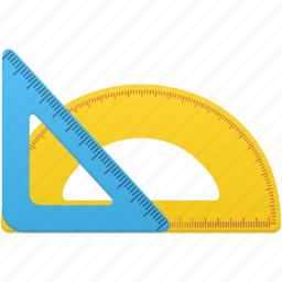 math, ruler, rulers, semicircle ruler, study, tool, tools icon