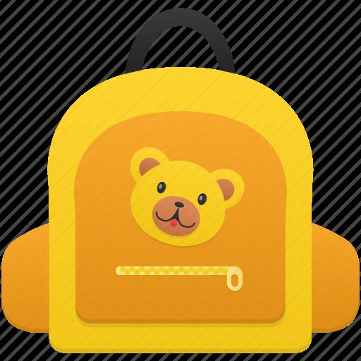 bag, bear, education, girl, schoolbag, student, study icon