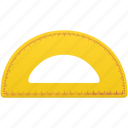math, semicircleruler, study, tool, tools icon