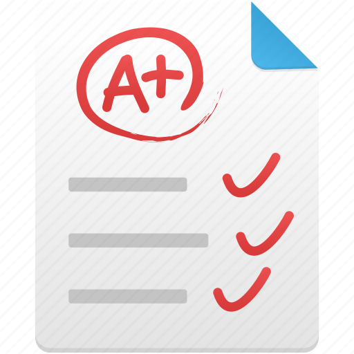 document, excellent, paper, test icon