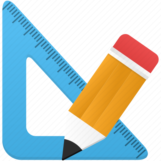 math, pencil, ruler, study, tool, tools icon