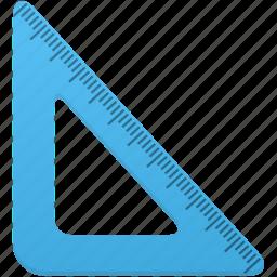 math, ruler, rulers, study, tool, tools, triangle icon