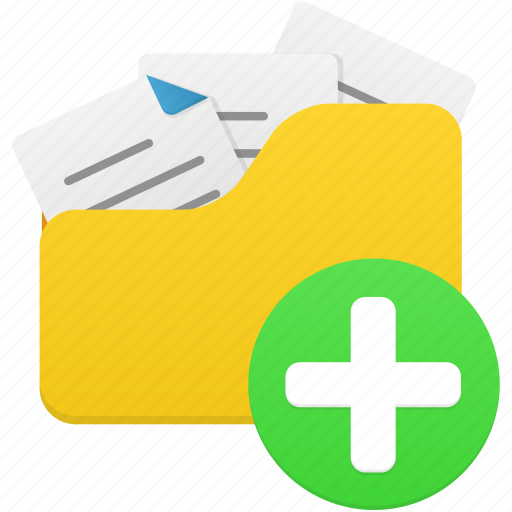 add, document, documents, files, folder, new, open icon