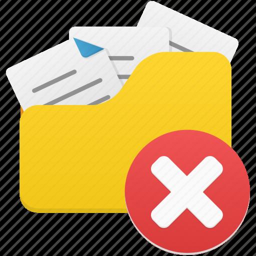 delete, documents, folder, open, remove icon