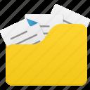folder, full, open, document, file, files, folders