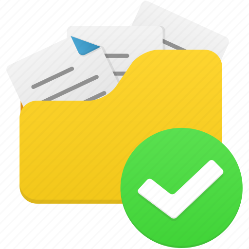 accept, documents, file, files, folder, open icon