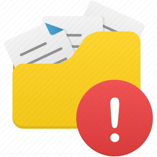 document, documents, file, files, folder, open, warning icon