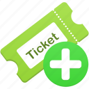 add, create, new, ticket icon