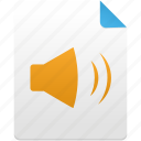 audio, file, media, music, sound, volume icon