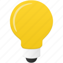 bulb, energy, light, power icon