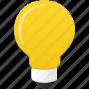 bulb, energy, light, power icon