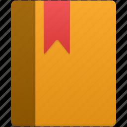 book, bookmark, content, note icon