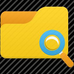explorer, file, folder, search icon