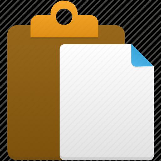 clipboard, copy, file, paste icon