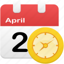 alarm, calendar, clock, event, plan, schedule icon