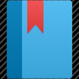 book, bookmark, notebook, scorm icon