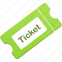 cinema, film, theater, theatre, ticket icon
