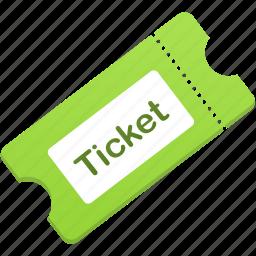 cinema, film, theater, theatre, ticket icon