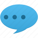bubble, chat, comment, communication, message, text icon