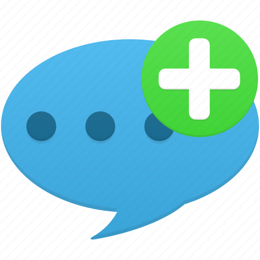 add, bubble, chat, comment, communication, message, talk icon