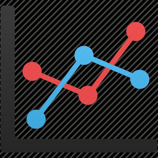 analytics, chart, diagram, line, report, statistics icon