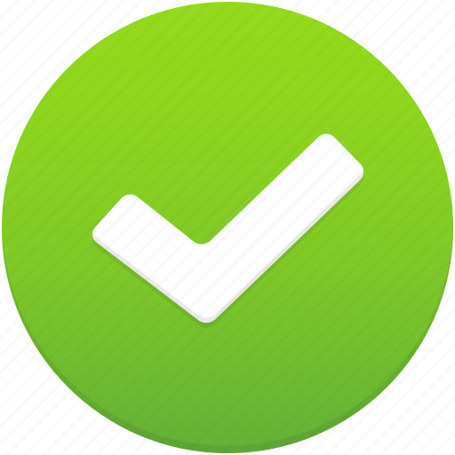 accept, approve, check, ok, success, tick, yes icon