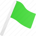 flag, green, flags icon