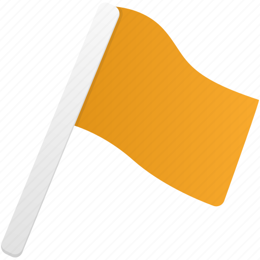 flag, flags, orange icon