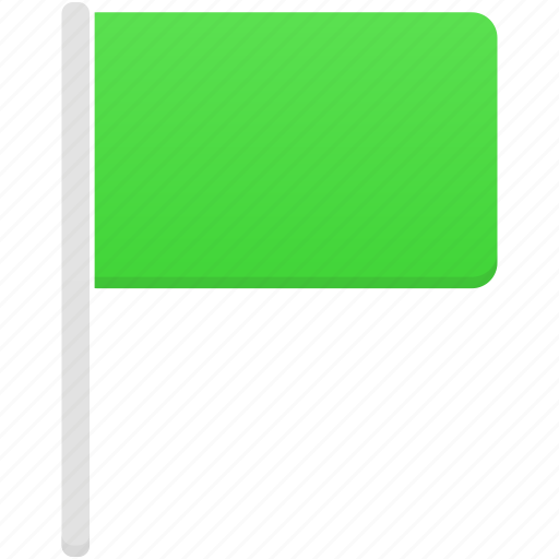 flag, flags, green icon