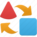 arrow, arrows, export, import icon