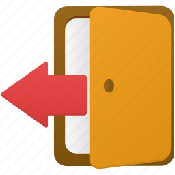 door, logout, out icon