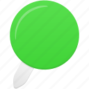 green, location, pin icon