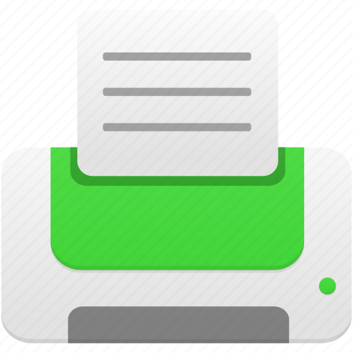 green, print, printer icon
