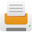 orange, print, printer icon