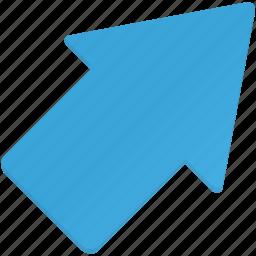 arrow, arrows, right, upright icon
