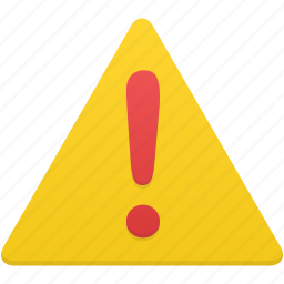 alert, attention, danger, error, exclamation, sign, warning icon