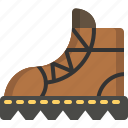 activity, boots, camping, gear, outdoor icon
