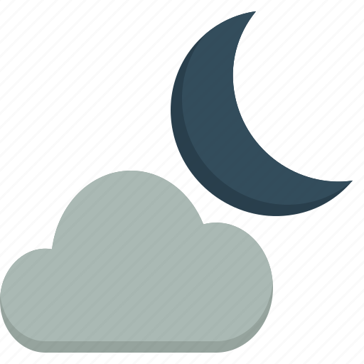 activity, camping, cloudy, gear, moon, outdoor icon