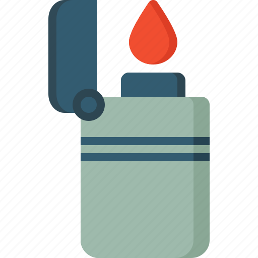 activity, camping, gear, lighter, outdoor icon