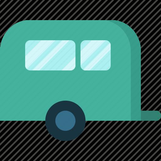 activity, camping, gear, outdoor, trailer icon