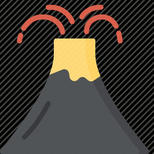 activity, camping, gear, outdoor, volcano icon